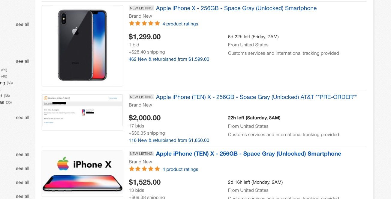IPhone X Shipping Dates Slip To 5-6 Weeks As Scalpers