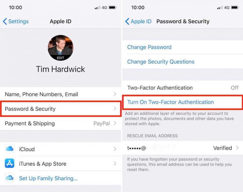 how to use two factor authentication
