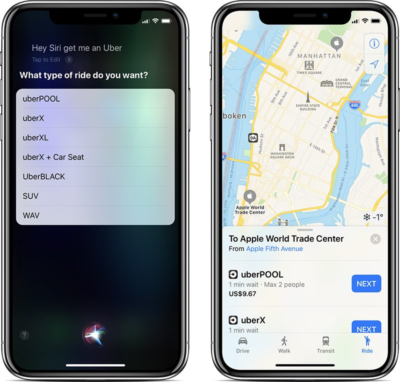 Uber's Latest App Update Restores Siri and Apple Maps ...