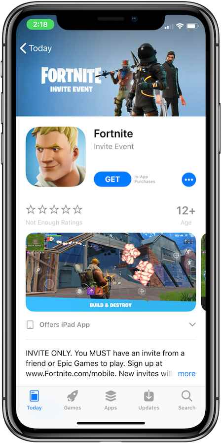 Fortnite Mobile Invite Event Codes For iOS Rolling Out, iPhone App
