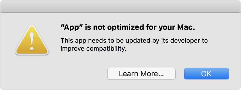 Apple Pushing 32 Bit App Warning Live For Macos 10 13 4 As