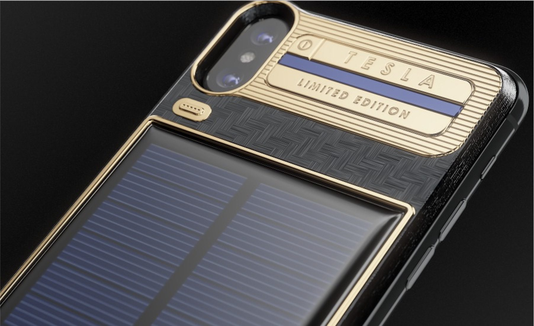 Iphone X Luxury Battery Case With Integrated Solar Panel