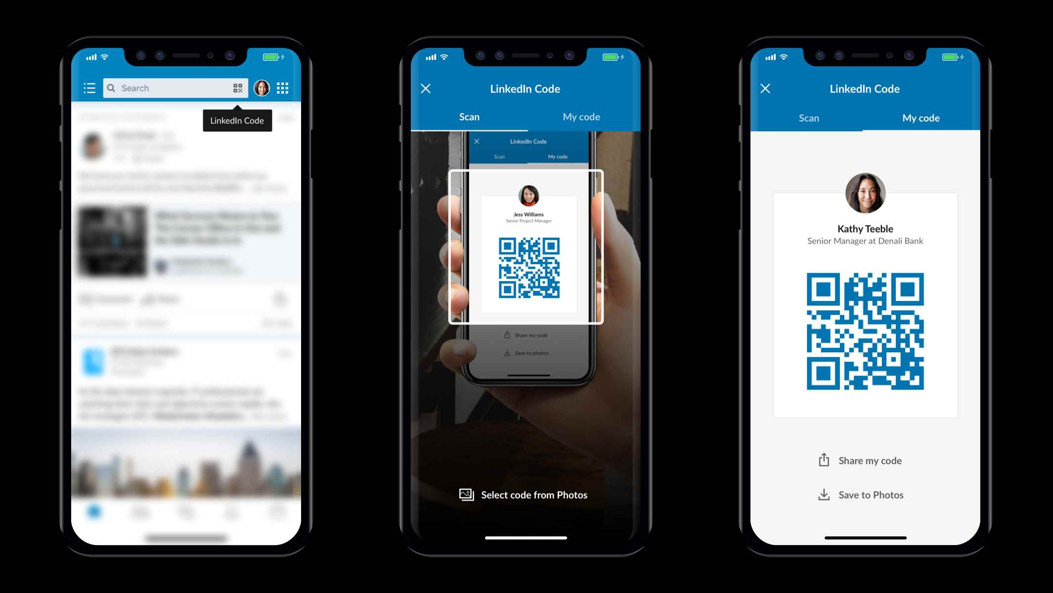 LinkedIn app turns your profile into a digital business card with QR ...
