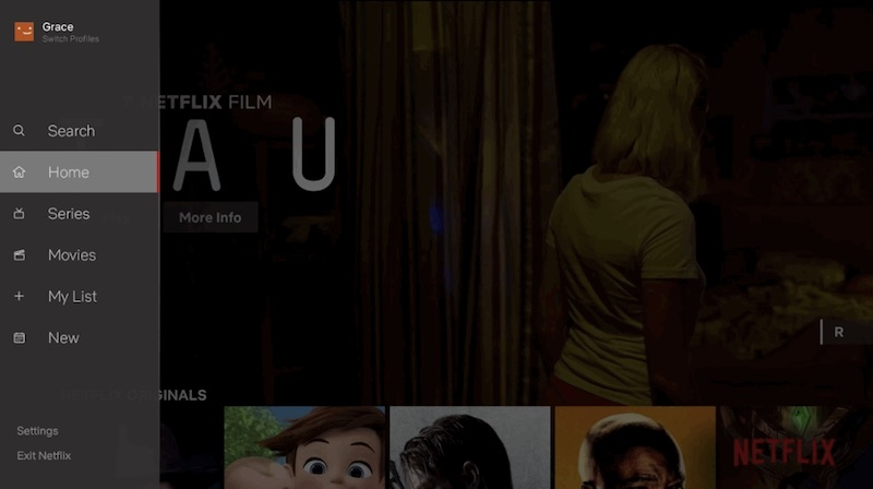 Netflix redesigns tv apps with side bar interface housing for Find and design tv show