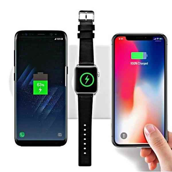 this 3 in 1 airpower alternative can wirelessly charge your iphone apple watch airpods or. Black Bedroom Furniture Sets. Home Design Ideas