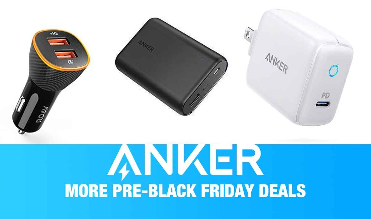 Anker Pre Black Friday Deals Part Two 15 Usb Pd Chargers 6 Port Desktop Charger For 13 Smart Car Chargers More