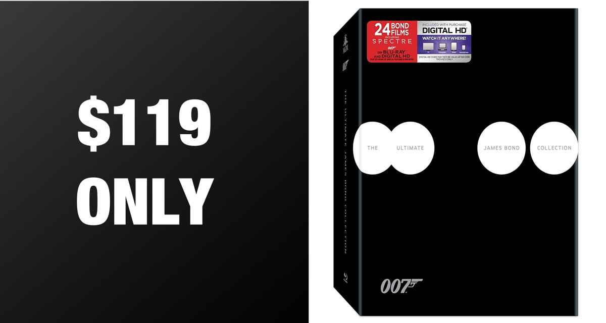 Hot Deal Alert: Get All James Bond Movies In Blu-ray + Digital