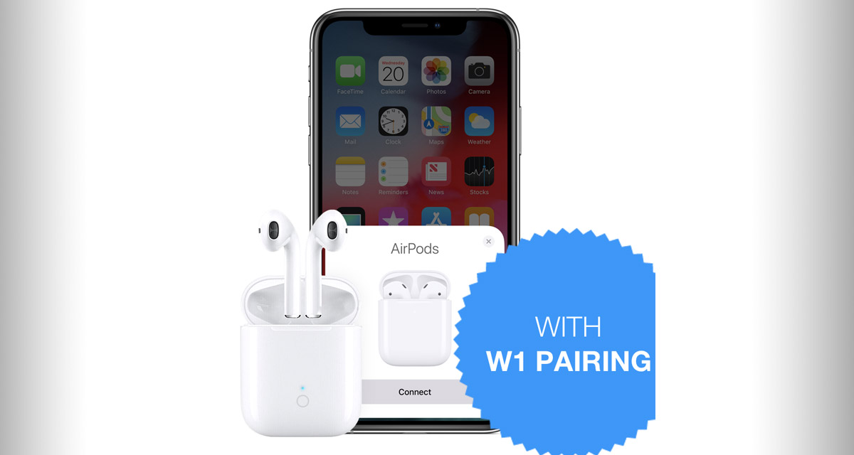 These Airpods Like Truly Wireless Earphones Feature W1 Pairing Bluetooth 5 0 Wireless Charging Case For 1 4th The Price